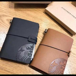 スターバックスコーヒー(Starbucks Coffee)の2点セット!カードケース カードホルダー メモ シール 台湾スターバックスノート(パスケース/IDカードホルダー)