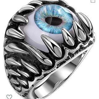 目玉 モンスター ブルー リング 指輪 19号OR21号在庫あり(リング(指輪))