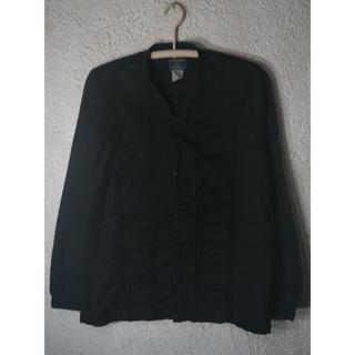 ウールリッチ(WOOLRICH)の5858 ウールリッチ リネン コットン 混紡 ノーカラー デザイン シャツ(シャツ)