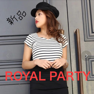 ROYAL PARTY  ハートネック半袖Tシャツ 新品未使用タグ付き