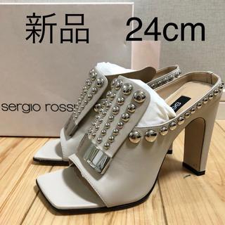 Sergio Rossi - 新品 セルジオロッシ サンダル ヒール スタッズ 23.5cm 24cm