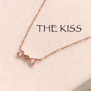 ザキッス(THE KISS)の【THE KISS】ザキッス*カラーストーンネックレス*K10PG*ピンク(ネックレス)