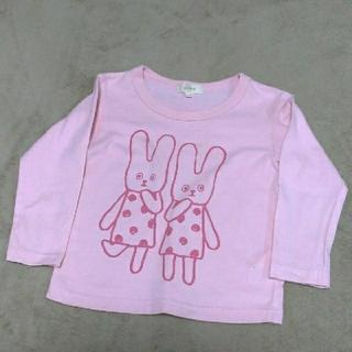 HusHush - キッズカットソー うさぎ柄 ピンク サイズ100センチ ハッシュアッシュ