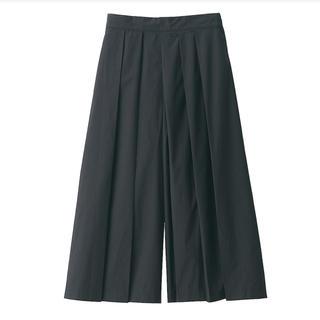 MUJI (無印良品) - 新品   無印良品  ストレッチ高密度織りはかまパンツ