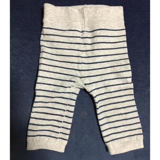 ムジルシリョウヒン(MUJI (無印良品))のボーダーズボン  グレー  80サイズ(パンツ)