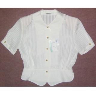 新品 7号 オーバーブラウス OL制服(シャツ/ブラウス(半袖/袖なし))