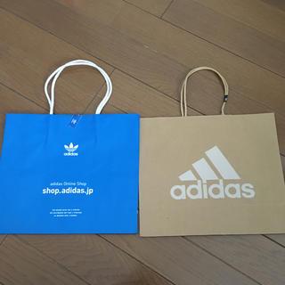 アディダス(adidas)のアディダス紙袋2枚(ショップ袋)