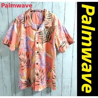 アートヴィンテージ(ART VINTAGE)のPalmwave アロハシャツ オープンカラーシャツ サーモンピンク 綿シャツ(シャツ)