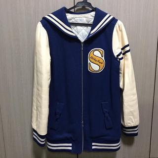 シャーリーテンプル(Shirley Temple)のsale! Shirley Temple ♥ リボンスタジャン 160 ブルー(ジャケット/上着)