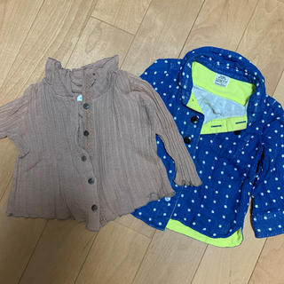 ビケット(Biquette)の便利なシャツ2枚セット 80(シャツ/カットソー)