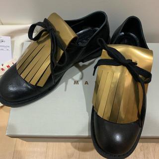 マルニ(Marni)のマルニ フリンジシューズ(ローファー/革靴)