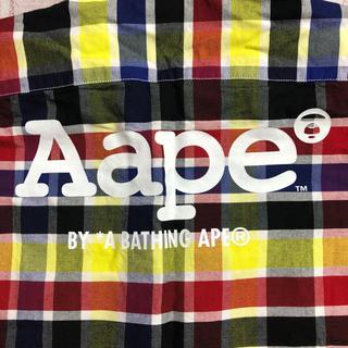 アベイシングエイプ(A BATHING APE)のアベイシングエイプ・チェック・マルチカラー・ユニセックス(シャツ)
