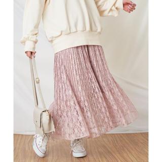 ナイスクラップ(NICE CLAUP)のレースプリーツスカート(ロングスカート)