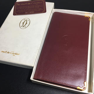 Cartier - 【未使用 保管品】 美品 カルティエ 財布 札入れ ボルドー レザー 長財布