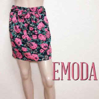 EMODA - 爆かわ♪エモダ 同素材ベルト付き ローズスカート♡ダチュラ ムルーア