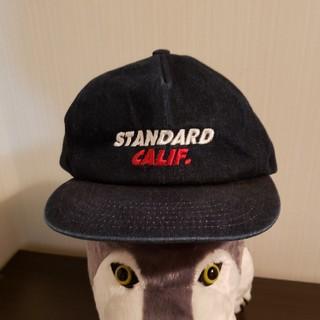 スタンダードカリフォルニア(STANDARD CALIFORNIA)のスタンダードカルフォルニア インディゴ 別注 SDロゴ デニムキャップ(キャップ)