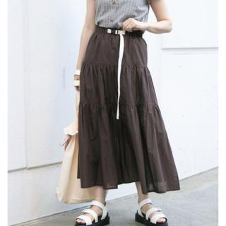 ナイスクラップ(NICE CLAUP)のナイスクラップ  プラバックルベルト付きティアードスカート(ロングスカート)