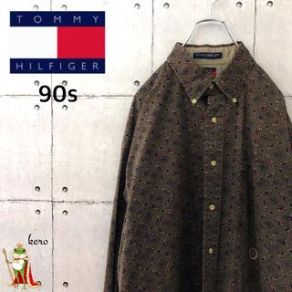 トミーヒルフィガー(TOMMY HILFIGER)の【激レア】90s オールド トミーヒルフィガー BDシャツ ペイズリー柄(シャツ)