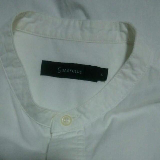 RAGEBLUE(レイジブルー)のRAGEBLUE プルオーバー 長袖シャツ Sサイズ シンプル きれいめ 古着 メンズのトップス(シャツ)の商品写真