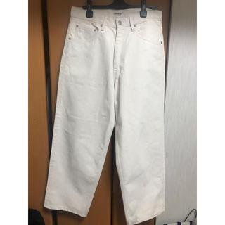 コモリ(COMOLI)のauralee hard twist denim wide pants (デニム/ジーンズ)