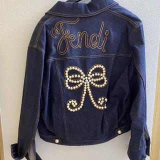 フェンディ(FENDI)の正規品 フェンディ  パール Gジャン サイズ40  デニムジャケット(Gジャン/デニムジャケット)