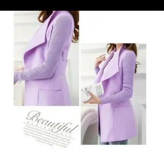 袖リブのスタイルアップジャケットコート(テーラードジャケット)
