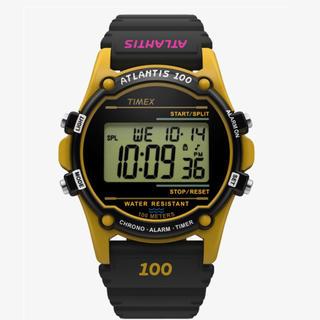 タイメックス(TIMEX)のTIMEX ATLANTIS 100 アトランティス イエロー 未使用新品(腕時計(デジタル))