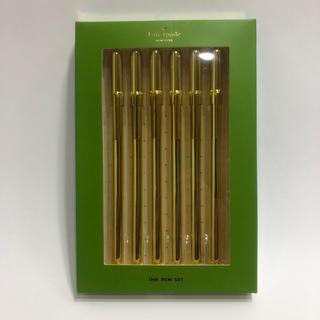 ケイトスペードニューヨーク(kate spade new york)の新品 ケイトスペード ポールペン ブラック 6本セット ブランド レディース(その他)