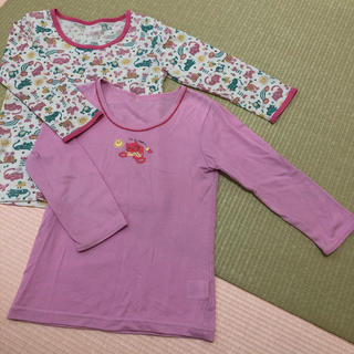 ニシマツヤ(西松屋)の白まりも様専用☆女の子 長袖肌着110 2枚セット(その他)
