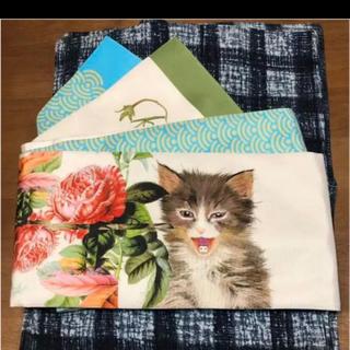 フリフ(ふりふ)のハイカロリ オトメ 猫に薔薇にUSBコード薔薇に植物青海波 半幅帯(浴衣帯)