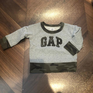 babyGAP - babyGAP カモフラスウェットトップス