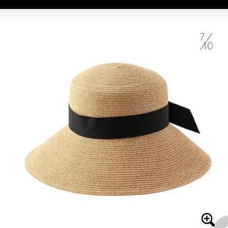 バーニーズニューヨーク ストロー ハット リボン アシーナ 麦わら 帽子