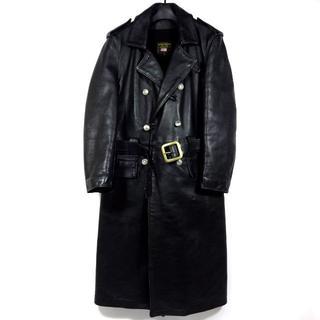 バンソン(VANSON)の希少 レア! VANSON バンソン レザー グレート コート 36 黒(レザージャケット)