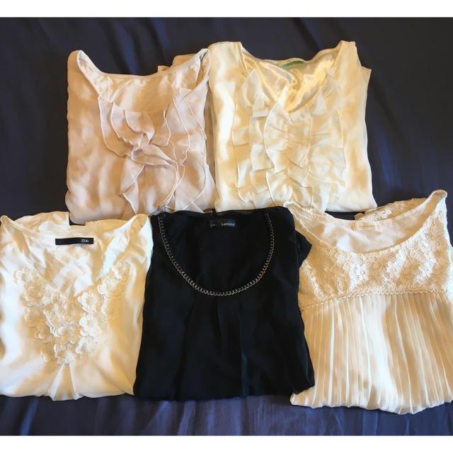 ORIHICA(オリヒカ)のオフィス系ブラウス 5枚セット レディースのトップス(シャツ/ブラウス(半袖/袖なし))の商品写真