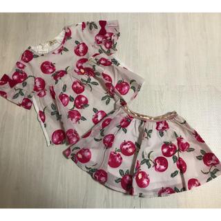 ニットプランナー(KP)のトロワラパン KP りんご Tシャツ チュニック スカパン スカート 110(Tシャツ/カットソー)