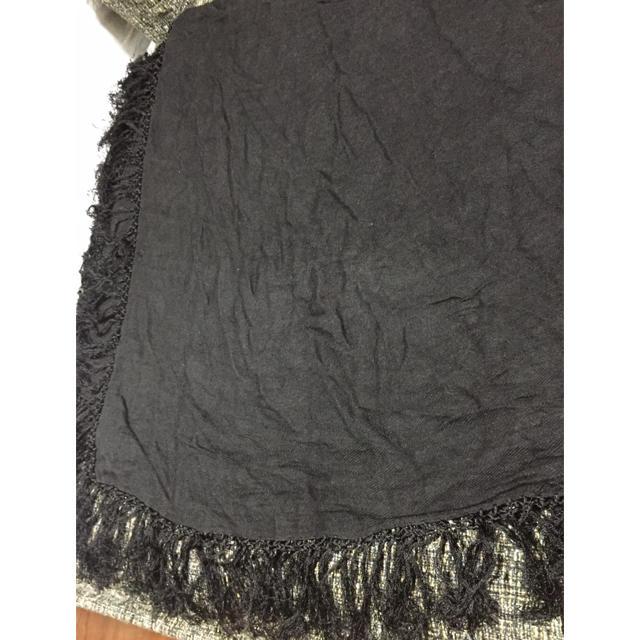HARE(ハレ)の黒 ストール メンズのファッション小物(ストール)の商品写真
