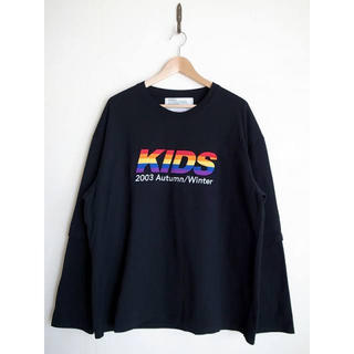 "SUNSEA - DAIRIKU ""KIDS 2003AW Layered T-Shirt "" 黒"