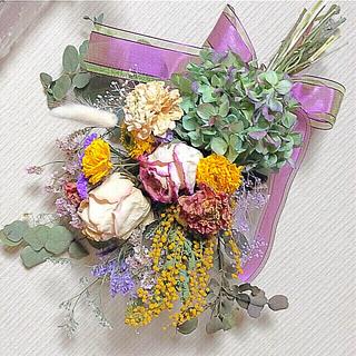 ❤️ドライフラワースワッグ☘️薔薇、ラナンキュラ❣️フォロワー様100円引(ドライフラワー)