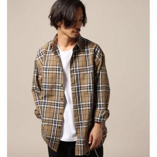 RAGEBLUE - RAGEBLUE レイジブルー  TRビッグシルエットチェックシャツ M