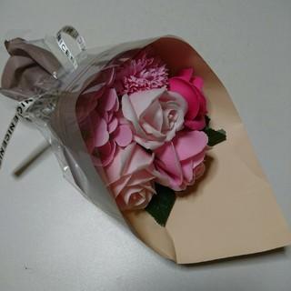 【値下げ】シャボンフラワー 花束 華やかピンクブーケ(ドライフラワー)