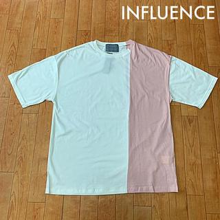 インフルエンス(Influence)の*未使用*INFLUENCE(インフルエンス) バイカラーTシャツ(Tシャツ/カットソー(半袖/袖なし))
