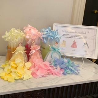 ディズニー(Disney)のカラードレス色当てクイズ/ペンライト/プリンセスハニカムカード/ボードまとめ売り(ウェルカムボード)