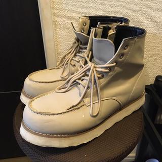 ワークブーツ サイドファスナー 厚底 ブーツ メンズ(ブーツ)