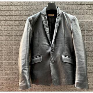 ドウシシャ(ドウシシャ)のカズンさま専用□羊革 オールレザージャケット Lサイズ+新品春コーデストール(テーラードジャケット)