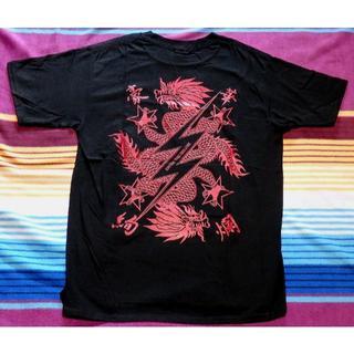 デラックス(DELUXE)の新品 Deluxe Clothing 龍バックプリントTシャツ M 日本製 (シャツ)