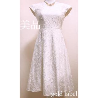 トッカ(TOCCA)のTOCCA❀*✨圧巻の総刺繍✨gold label プリンセスワンピース✨(ひざ丈ワンピース)