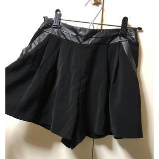 ワンウェイ(one*way)のキュロット スカート ショートパンツ レザー ブラック(キュロット)