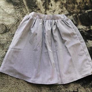 エージープラス(a.g.plus)のフレアスカート チュールスカート ネイビー M(ひざ丈スカート)
