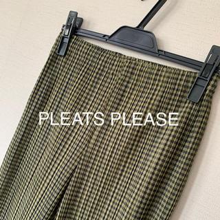 PLEATS PLEASE ISSEY MIYAKE - PLEATS PLEASE / ギンガムチェックパンツ