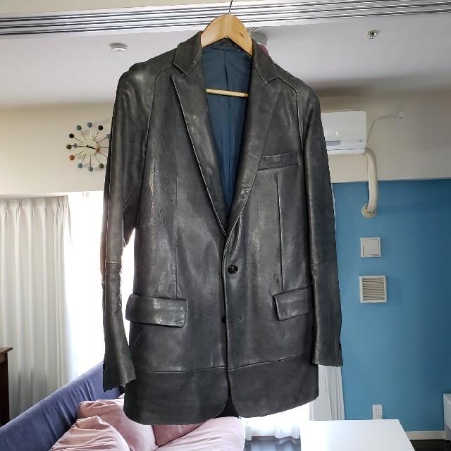 Carol Christian Poell(キャロルクリスチャンポエル)のCAROL CHRISTIAN POELL テーラード レザージャケット 46 メンズのジャケット/アウター(レザージャケット)の商品写真